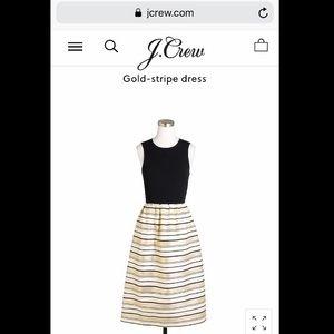 J.Crew Gold-stripe dress